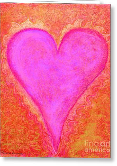 Flames Pastels Greeting Cards - Heart051 Artwithheart.com Greeting Card by Patricia