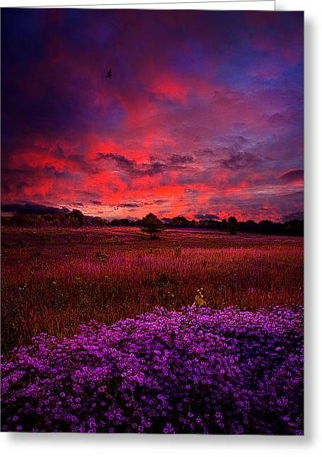 Geographic Greeting Cards - Heartfelt Greeting Card by Phil Koch