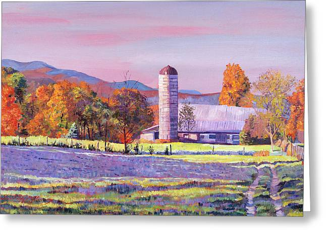 Autumn Landscape Paintings Greeting Cards - Heartland Morning Greeting Card by David Lloyd Glover
