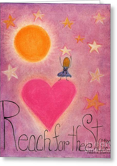 Reach Pastels Greeting Cards - Heartww133 Artwithheart.com Greeting Card by Patricia