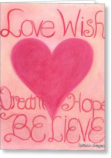 Wishes Pastels Greeting Cards - Heartww164 Artwithheart.com Greeting Card by Patricia