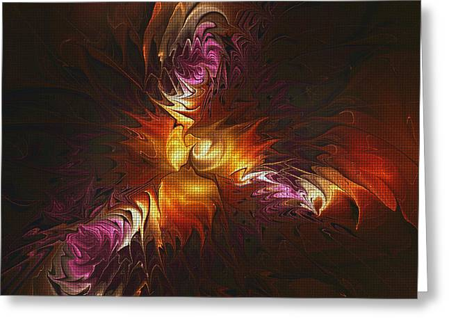 Heat Of Passion Greeting Card by Deborah Benoit