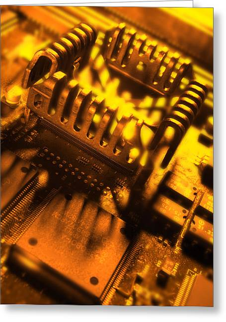Central Processing Unit Greeting Cards - Heat Sink Greeting Card by Mark Sykes