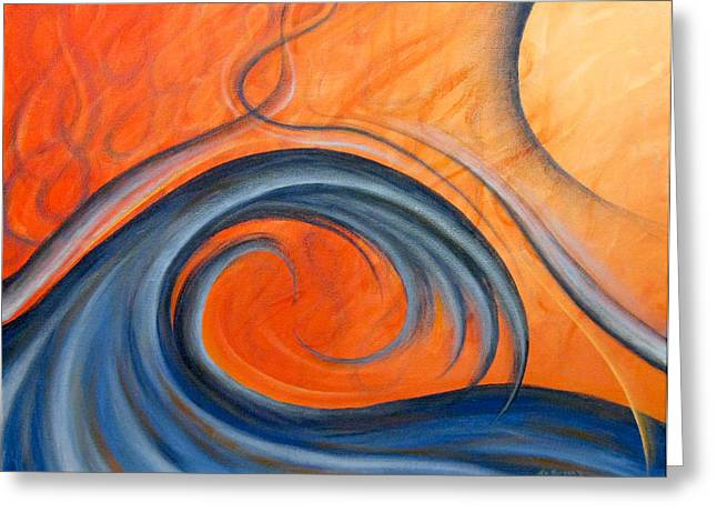 Surfin Greeting Cards - Heat Wave Greeting Card by Michael Morgan