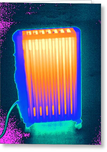 Thermograph Greeting Cards - Heater, Thermogram Greeting Card by Tony Mcconnell