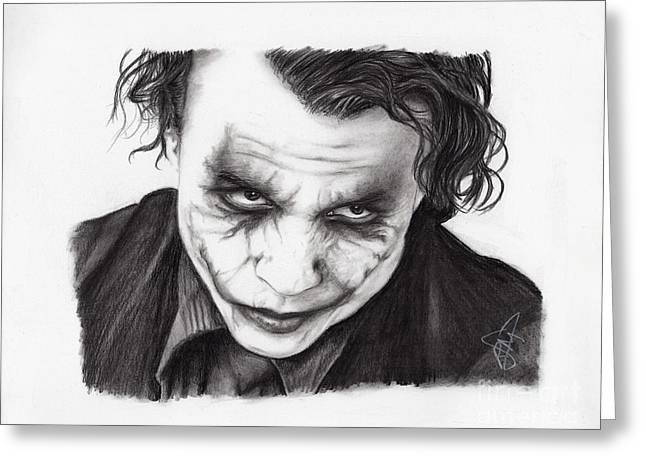 Heath Ledger Greeting Cards - Heath Ledger Greeting Card by Rosalinda Markle