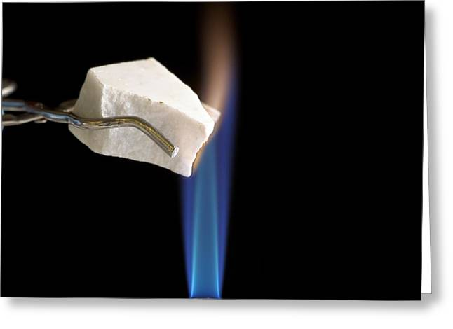 Calcium Oxide Greeting Cards - Heating Marble Greeting Card by