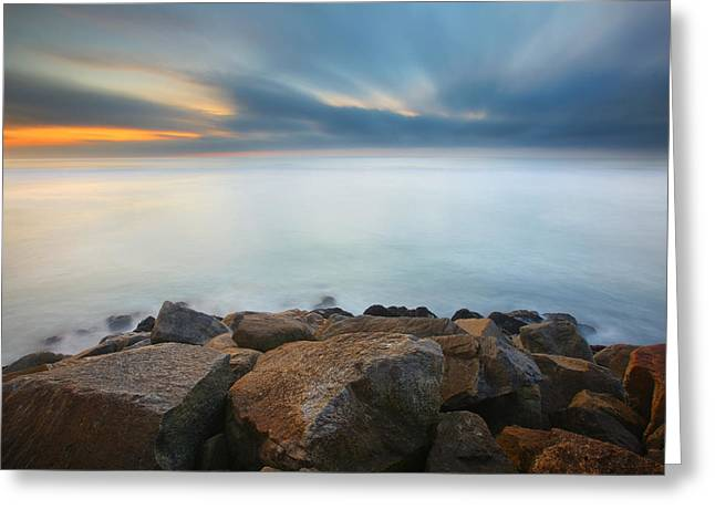 Jetty Greeting Cards - Heaven and Earth 2 Greeting Card by Larry Marshall