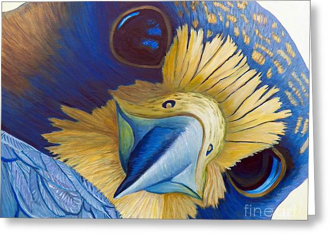 Falcon Greeting Cards - Heaven and Earth Greeting Card by Brian  Commerford