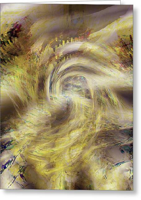 Energy Art Movement Greeting Cards - Heaven and Earth Greeting Card by Linda Sannuti