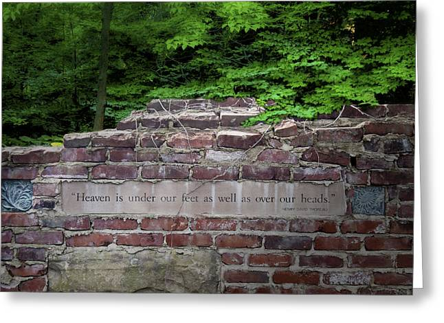 Henry David Thoreau Greeting Cards - Heaven Under Our Feet Wall Greeting Card by Tom Mc Nemar