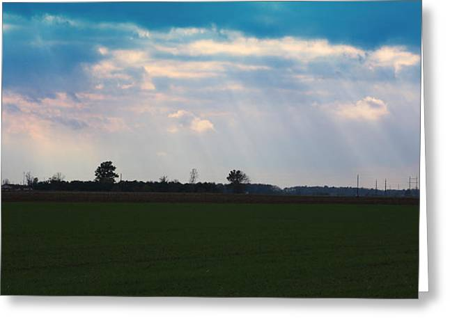 Indiana Landscapes Mixed Media Greeting Cards - Heavenly Day Greeting Card by Bruce McEntyre