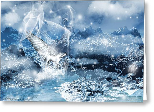 Heavenly Interlude Greeting Card by Lourry Legarde