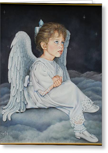 Ruth Gee Greeting Cards - Heavenly Messanger -Mahalahk Greeting Card by Ruth Gee