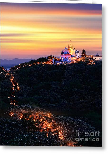 Huahin Greeting Cards - Heavenly moutain Greeting Card by Buchachon Petthanya