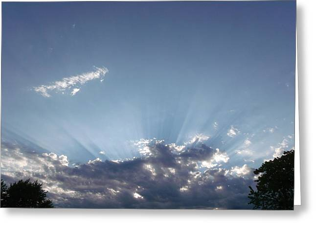Heavenly Rays Greeting Card by Brian  Maloney