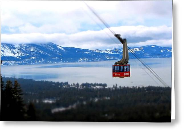 Heavenly Greeting Cards - Heavenly Tram South Lake Tahoe Greeting Card by Brad Scott