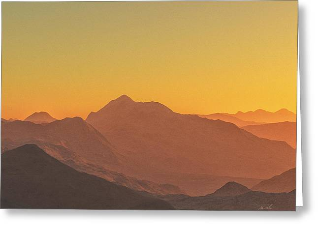Terragen Greeting Cards - Heavens Breath 11 Greeting Card by Jeanette Charlebois