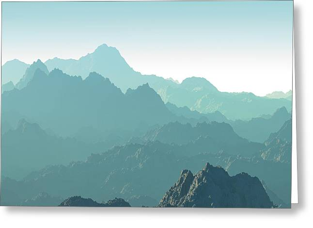 Terragen Greeting Cards - Heavens Breath 14 Greeting Card by Jeanette Charlebois