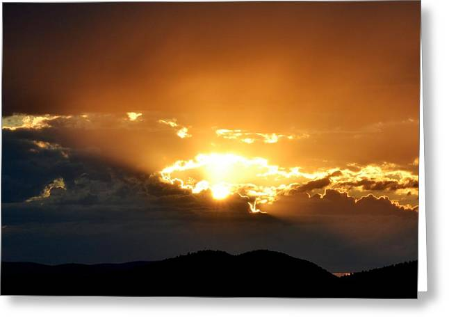 Sunset Posters Greeting Cards - Heavens gate Greeting Card by Kevin Bone
