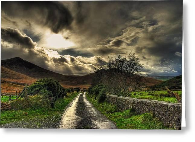 Kim Mixed Media Greeting Cards - Heavens Path Greeting Card by Kim Shatwell-Irishphotographer