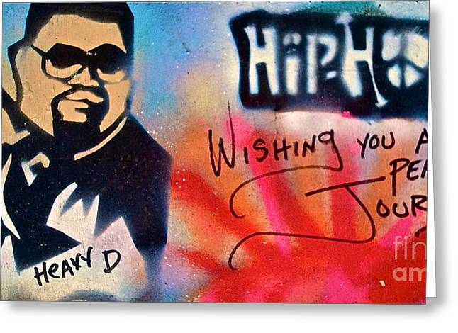 First Amendment Greeting Cards - Heavy D Greeting Card by Tony B Conscious