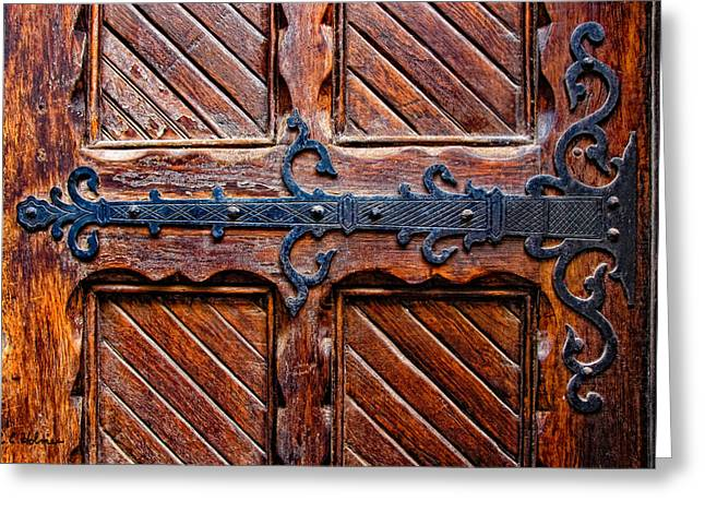 Door Hinges Greeting Cards - Heavy Duty Greeting Card by Christopher Holmes