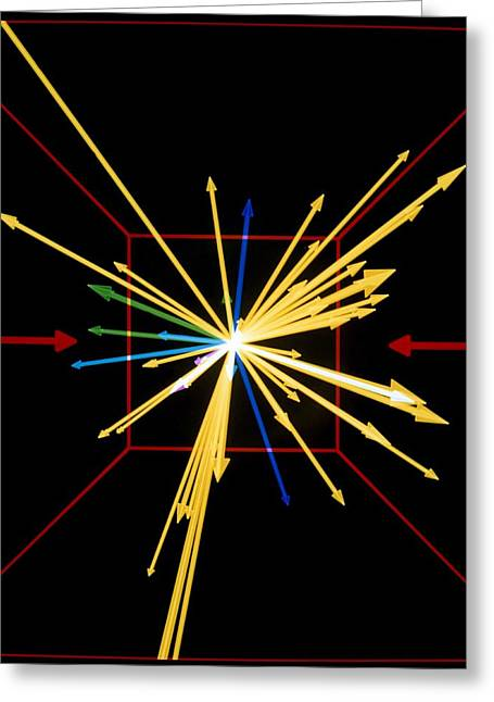 Helium Greeting Cards - Heavy Ion Collision In Plastic Ball Detector Greeting Card by Lawrence Berkeley Lab