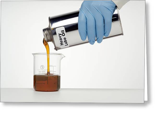 Lubricate Greeting Cards - Heavy Lubricating Oil Greeting Card by Paul Rapson