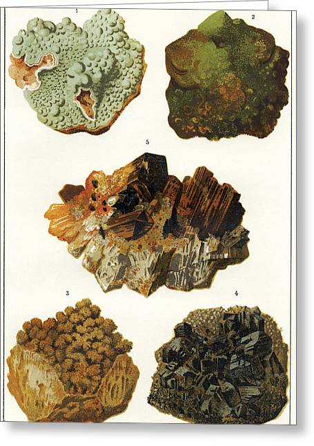 Mines And Miners Greeting Cards - Heavy Metal Minerals Greeting Card by Sheila Terry