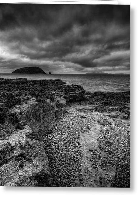 Leaden Sky Greeting Cards - Heavy Sky in Monochrome Greeting Card by Andy Astbury
