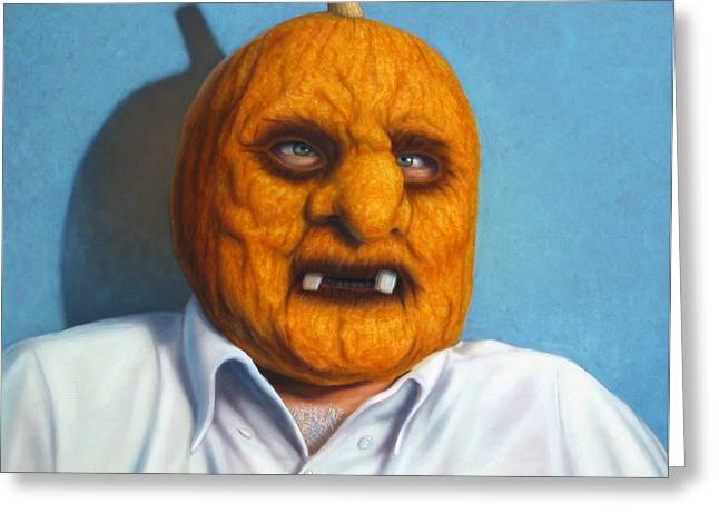 And Orange Greeting Cards - Heavy Vegetable-head Greeting Card by James W Johnson