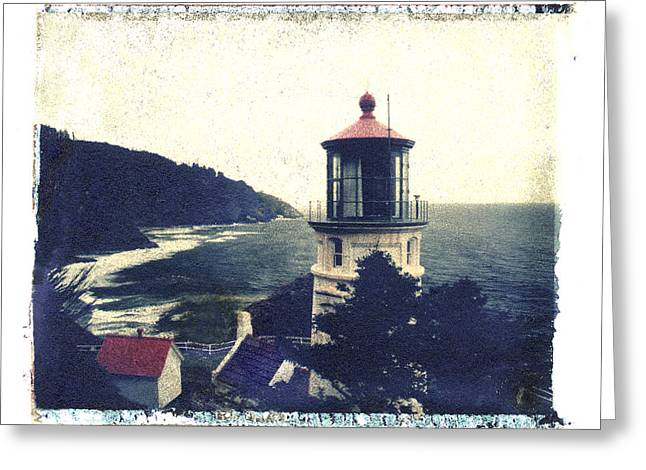 Transfer Greeting Cards - Heceta Head Light House Greeting Card by Joe  Palermo