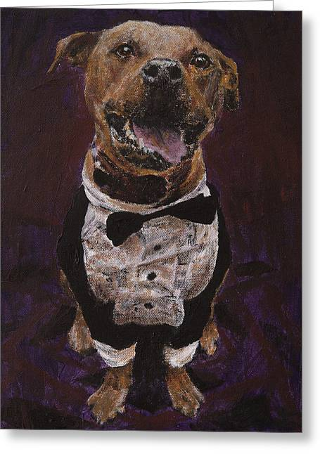 Pet Therapy Greeting Cards - Hector the Inspector Greeting Card by Clara Yori