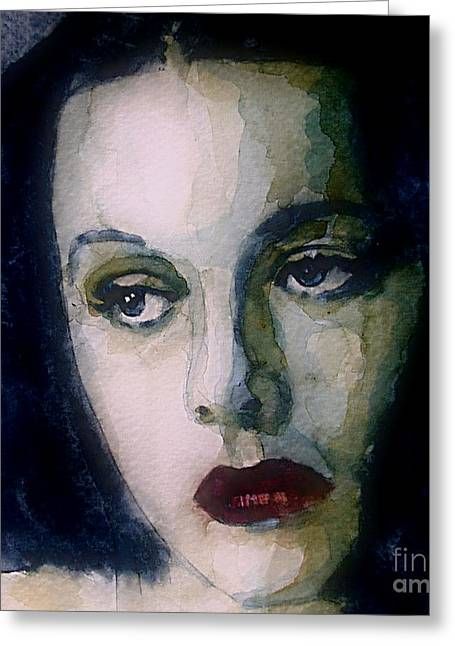 Hedy Greeting Cards - Hedy Lamarr Greeting Card by Paul Lovering