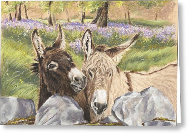 Donkey Paintings Greeting Cards - Hee Haw Greeting Card by Vanda Luddy