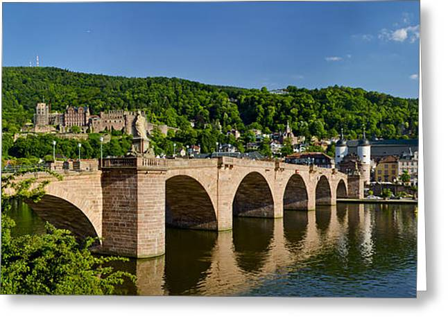 The Church Greeting Cards - Heidelberg old bridge  Greeting Card by Travel Images Worldwide
