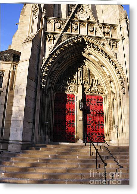 Recesses Greeting Cards - Heinz Chapel Main Entrance Greeting Card by Thomas R Fletcher