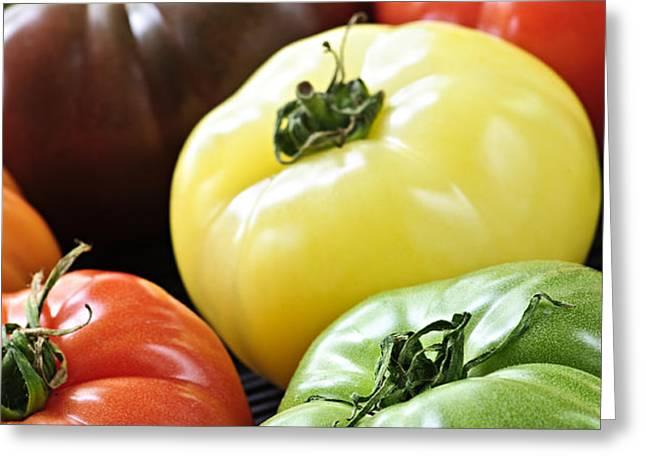 Heirloom tomatoes Greeting Card by Elena Elisseeva