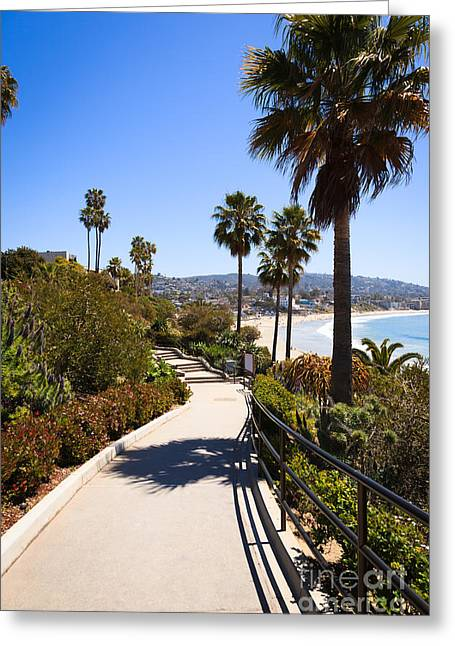 Beach Scenery Greeting Cards - Heisler Park Laguna Beach California Greeting Card by Paul Velgos