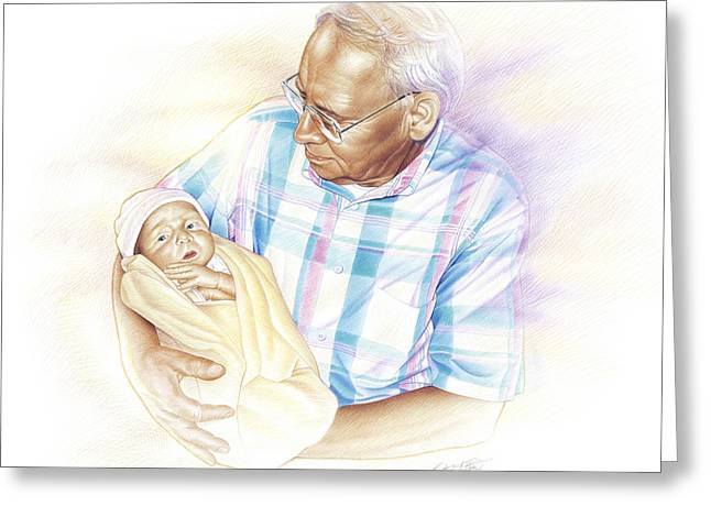 Greatest Generation Drawings Greeting Cards - Held From Heaven Greeting Card by Steven Tetlow