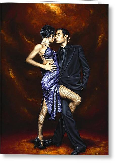 Passion Greeting Cards - Held in Tango Greeting Card by Richard Young