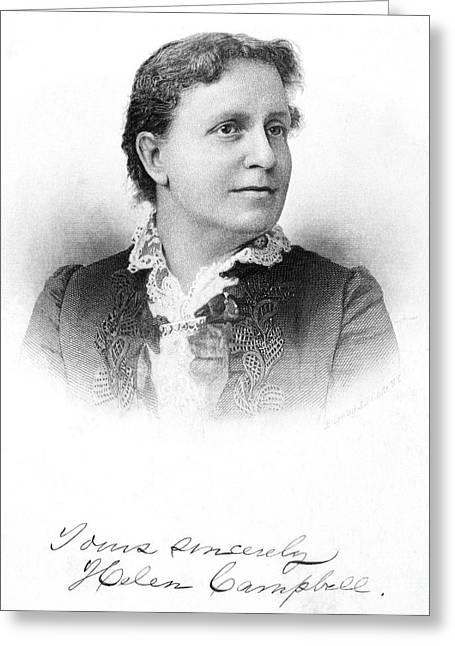 Helen Stuart Campbell (1839-1918) Greeting Card by Granger