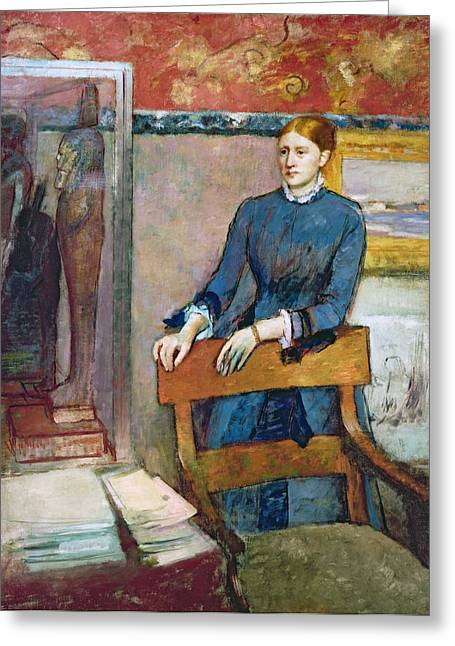 French Woman Greeting Cards - Helene Rouart Greeting Card by Edgar Degas