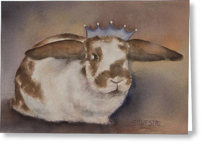 Wildlife Celebration Greeting Cards - Helicop Lop Rabbit  Greeting Card by Teresa Silvestri