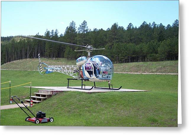 Crazy Horse Photographs Greeting Cards - Helicopter Ride South Dakota Greeting Card by Thomas Woolworth