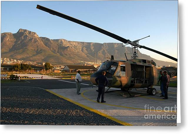 Cape Town Greeting Cards - Helicopter tours of Cape Town and Table Mountain Greeting Card by Andy Smy