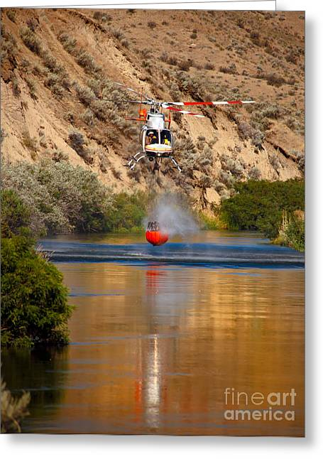 Firestorm Greeting Cards - Helitack  Greeting Card by Robert Bales
