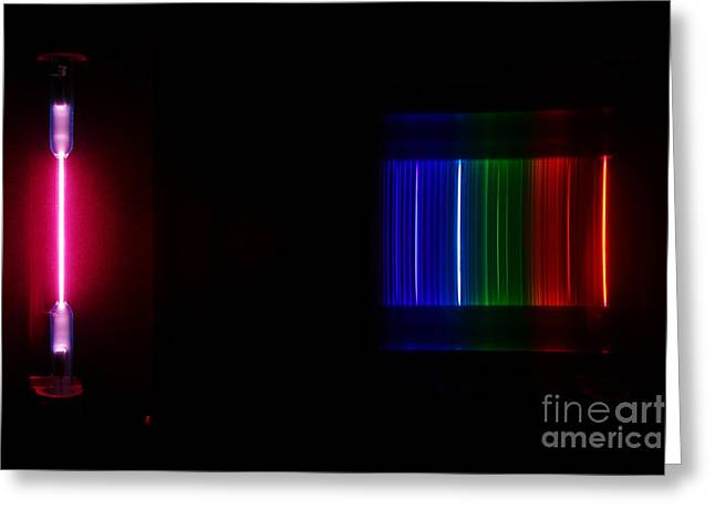 Spectra Greeting Cards - Helium Spectra Greeting Card by Ted Kinsman
