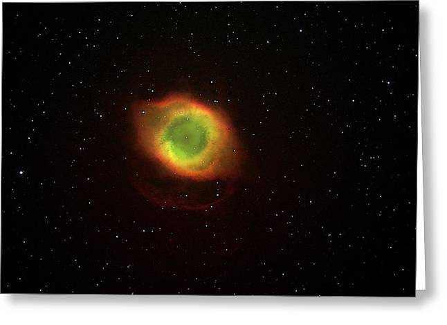 Helix Photographs Greeting Cards - Helix Nebula Greeting Card by Dr Luke Dodd